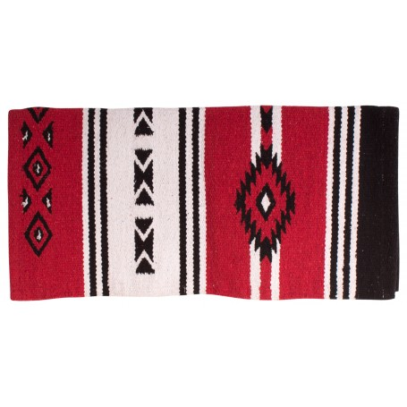 Red New Zealand Wool Aztec Western Saddle Show Blanket 31x31