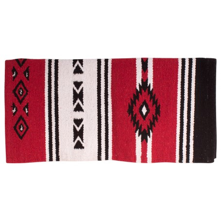 Aztec Red New Zealand Wool Western Saddle Blanket 32x31