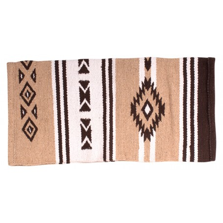 Beautiful Aztec Tan New Zealand Wool Western Saddle Blanket 32x32