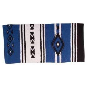 Royal Blue New Zealand Wool Aztec Western Saddle Blanket 32x32