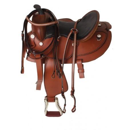 16 Buck stich saddle slick seat & tack
