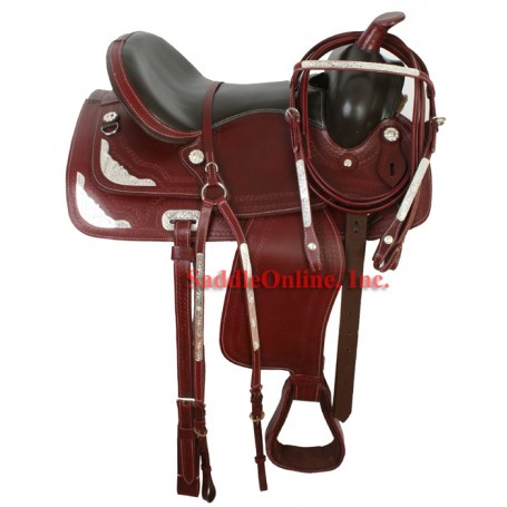 15 Gorgeous Mahogany Show Trail Saddle Silver