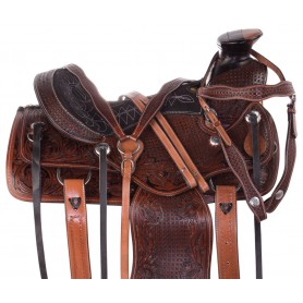 Antique Wade Tree Ranch Work Western Roping Leather Horse Saddle Tack Set