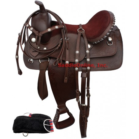 Dark Brown Show Western Saddlery Texas Star Tack 15