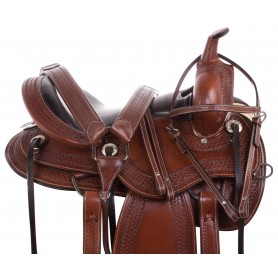 Western Endurance Comfy Cush Short Skirt Leather Trail Horse Saddle Tack Set