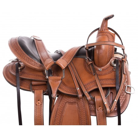 Chestnut Western Endurance Trail Comfy Cush Leather Horse Saddle Tack Set