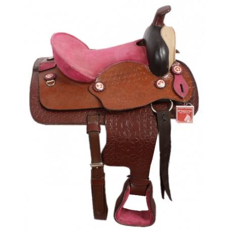 Pink Seat Cowgirls 12 Western Pony Saddle