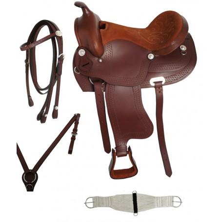 15 16 17 Brown Western Horse Pleasure Trail Saddle Tack