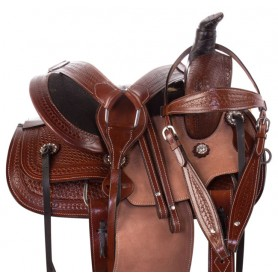 Youth Kids Barrel Racing Western Leather Ranch Roping Horse Saddle Tack Package