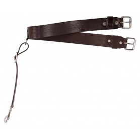 New Dark Brown Leather Back Cinch