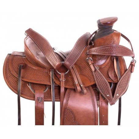 Premium Western Roping Cowboy Wade Tree Ranch Work Leather Horse Saddle Tack