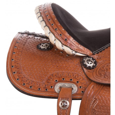 """Used 10"""" 12"""" 13"""" Mini Pony Horse Children Barrel Trail Western Saddle Tack Set"""