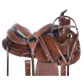 Western Gaited Trail Endurance Comfy Cush Leather Horse Saddle Tack Package