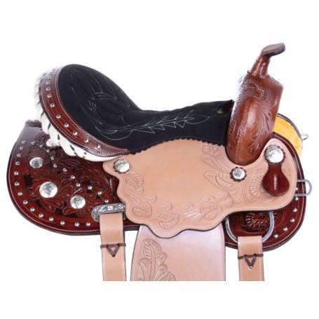 Studded Pro Barrel Racing Western Horse Saddle Tack 17