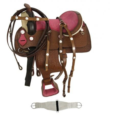 12 Pink Youth Kids Pony / mini horse Show Western Saddle