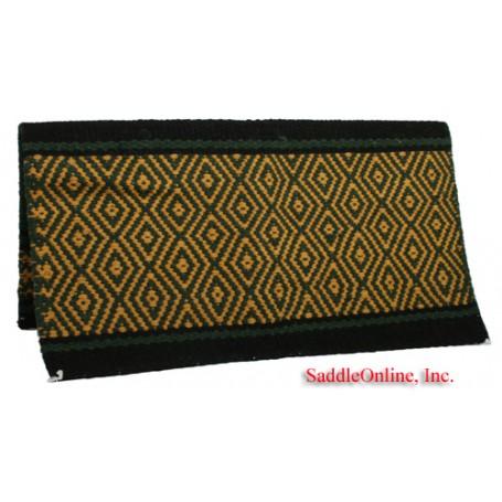 Green Yellow 100 Wool Show Cutting Saddle Blanket