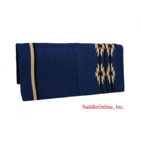 Royal Blue 100 Wool Show Cutting Saddle Blanket