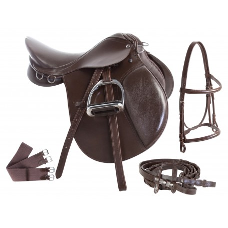English Starter All Purpose Saddle Set 15 18 Brown