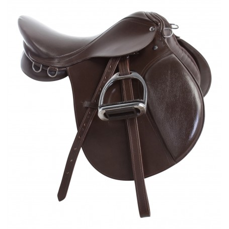 New Brown All Purpose AP English Riding Saddle 16 18