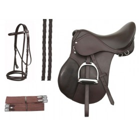 16 18 Brown Event Jumping Saddle Package