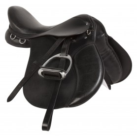 Black Leather All Purpose English Horse Saddle 15 18