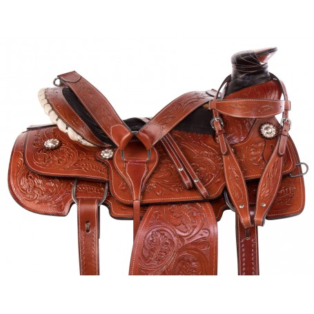 Wade Tree Ranch Work Roping Cowboy Western Leather Horse Saddle Tack Set