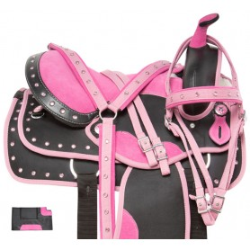 Pink Cowgirl Light Weight Western Synthetic Show Trail Horse Saddle Tack
