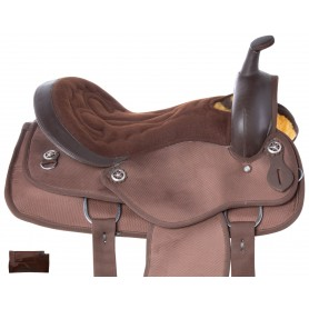 Brown Cordura Western Synthetic Pleasure Trail Horse Saddle Tack