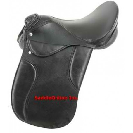 NEW DRESSAGE ENGLISH SADDLE BLACK MEDIUM TREE