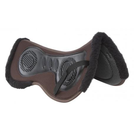 Brown 3D- Air Mesh Non Slip Gel Corrective English Horse Saddle Half Pad