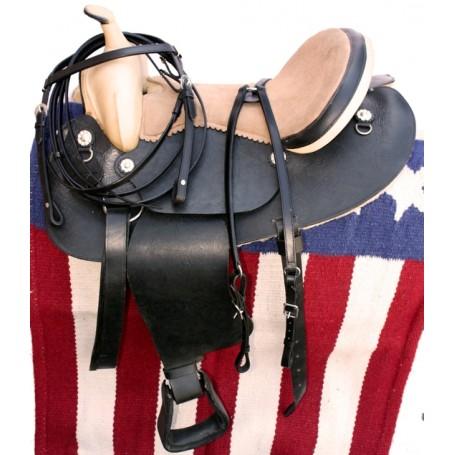 16 Black Tooled Western Pleasure Saddle W Tack