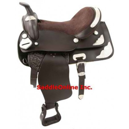 GORGEOUS NEW BROWN SHOW HORSE LEATHER SADDLE