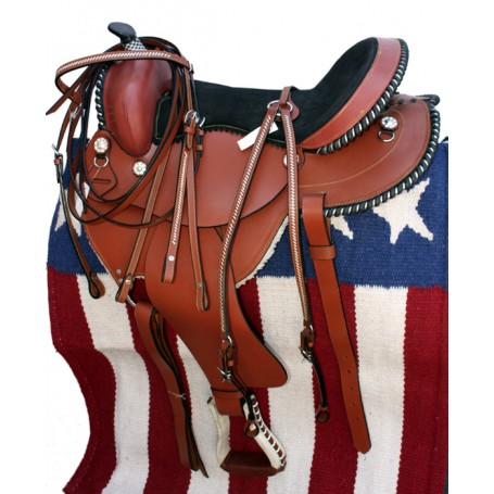 16-17 Pleasure Western Trail Saddle W Tack