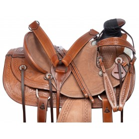 Heavy Duty Western Roping Wade Tree Ranch Working Leather Tooled Horse Saddle Tack
