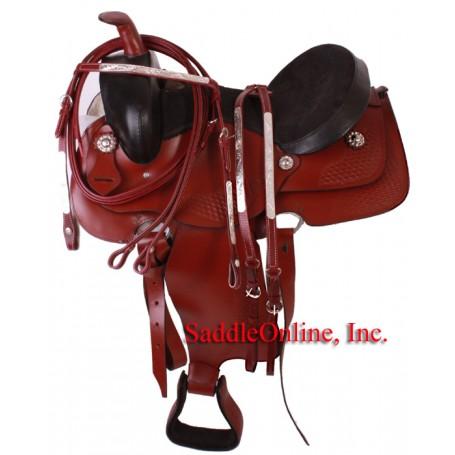 16 Cherry Western Pleasure Saddle Headstall Reins