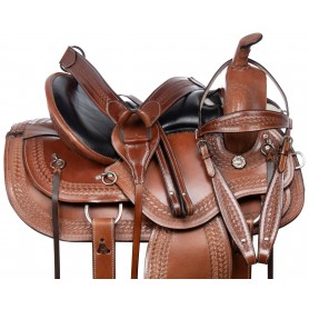 All Purpose Comfy Pleasure Trail Riding Western Leather Horse Saddle Tack Set