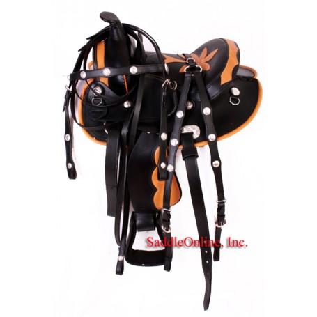 Gorgeous 10 QH Bars Leather Seat Black Saddle