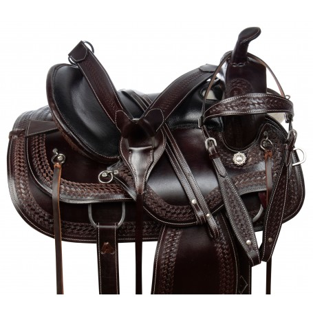 Amazingly Comfortable Western Trail Endurance Leather Horse Saddle Tack Set