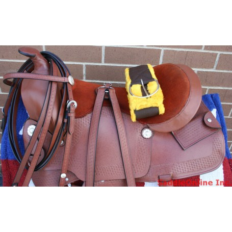 15 Hand Tooled Pleasure Trail Western Horse Saddle Tack