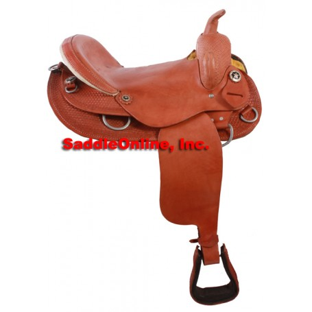 12 Youth Western Pony Saddle Red Seat