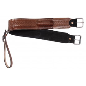 Western Back Cinch Leather Tooled Horse Saddle Bucking Strap