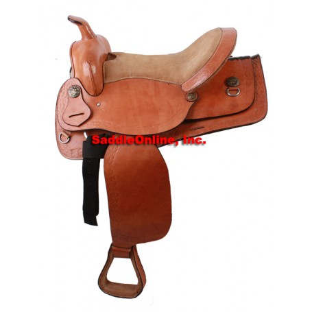 16 Tan Leather Trail QH Horse Western Saddle