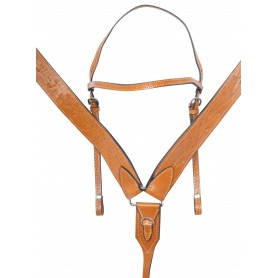 Draft Size Western Leather Tooled Premium Horse Saddle Tack Set