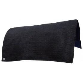 Black Blue Reversible Western Wool Show Horse Saddle Blanket