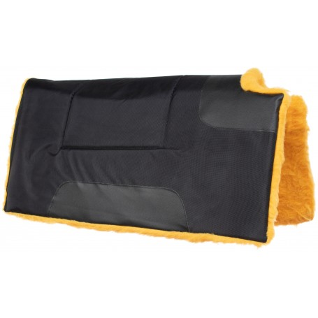 Black Synthetic Light Weight Western Horse Saddle Pad Pleasure Trail Riding
