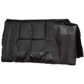 Black Canvas Synthetic Fleece Western Horse Saddle Pad Pleasure Trail