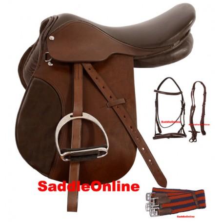15 16 Close Contact English Saddle W Bridle Tack