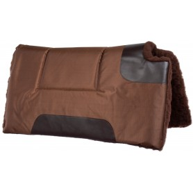 Brown Canvas Synthetic Fleece Western Horse Saddle Pad Pleasure Trail