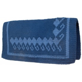 Blue Printed Premium Western Wool Show Horse Saddle Blanket