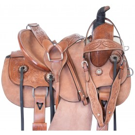 Youth Kids Roping Western Leather Ranch Work Hard Seat Roper Saddle Tack